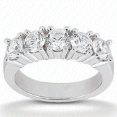 Round Brilliant 5 Stone Prong Set Diamond Wedding Band - WB2748