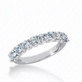Round Brilliant Shared Prong Set Diamond Wedding Band - WB2086