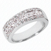 Princess Channel Set Diamond Anniversary Band - WBS155-G