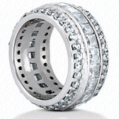 Princess Channel Set Diamond Combination Eternity Band - EWB273