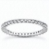 Round Brilliant Shared Prong Set Accented Diamond Eternity Band - MPET1000