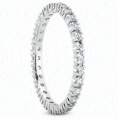 Round Brilliant Classic Accented Prong Set Diamond Eternity Band - MPET1016