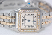Womens Cartier Panthère 18K Gold Diamond Watch