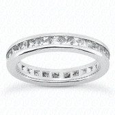 Princess Channel Set Diamond Eternity Band - MCET1029