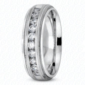 Mens Classic Round Cut Diamond Wedding Band  - MC202