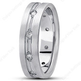 Mens Classic Diamond Wedding Band  - DB1162-RD