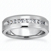 Mens Classic Round Cut Diamond Wedding Band  - MC214