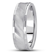 White Gold Diamond Cut 7mm Band Width