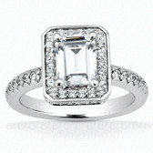 As Shown : Emerald Cut Diamond Measures 6 x 4mm (Approximately 0.75 tcw)
