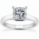 As Shown : Princess Cut Diamond Measures 6.5 x 6.5mm (Approximately 1.50 tcw)