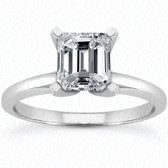 As Shown : Emerald Cut Diamond Measures 8 x 6mm (Approximately 1.50 tcw)