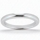 14K White Gold Plain Fitted Wedding Band- ENS1504-B