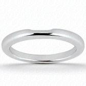 14K White Gold Plain Fitted Wedding Band- ENS1504-B