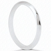 14K White Gold Plain Wedding Band- ENS1327-B