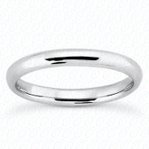 14K White Gold Plain Wedding Band- ENS2061-B