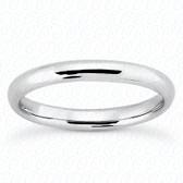 14K White Gold Plain Wedding Band- ENS2061-B