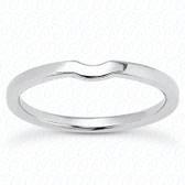 14K White Gold Plain Fitted Wedding Band- ENS2156-B