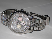 Mens Breitling Bentley 6.75 Mother of Pearl Diamond Watch