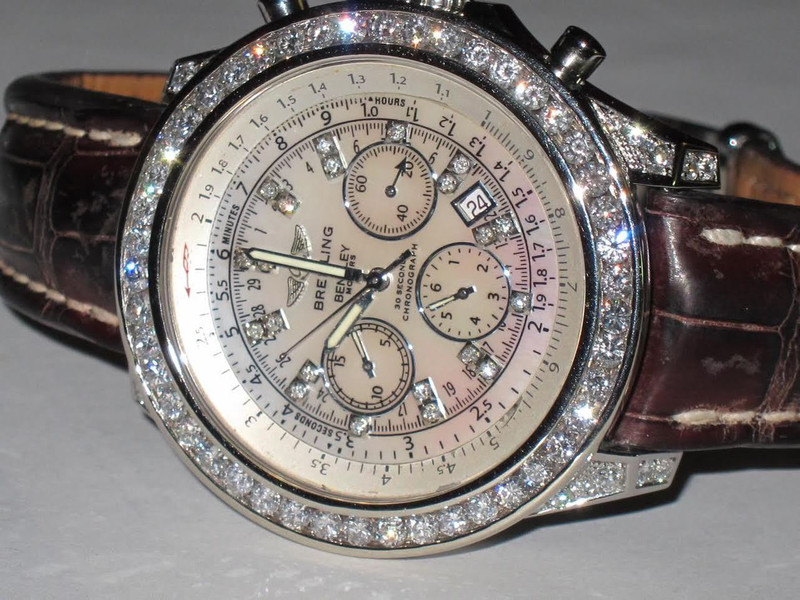 Mens Breitling Bentley Motors Diamond Watch Loucri Jewelers
