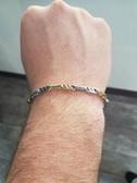 Men's 14K Two Tone White and Yellow Gold Bracelet