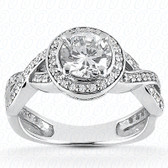 0.37 Diamond tcw on Ring Setting - Main Stone Not Included