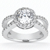 0.63 Diamond tcw on ring setting - Main Stone Not Included