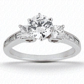 0.90 tcw Diamond on Ring Setting - Main Stone Not Included
