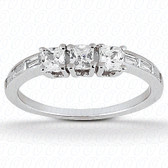 0.79 tcw Diamond on Wedding Band Setting