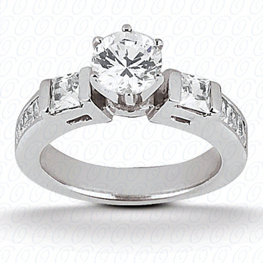 0.60 tcw Diamond on Ring Setting - Main Stone Not Included