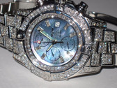 Men's Breitling Super Avenger Stainless Steel Automatic Diamond Watch