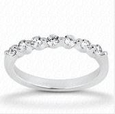 Women's 14K White Gold Diamond Wedding Band-WB923