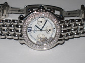 Womens Chopard Happy Sport Diamond Chronograph Watch
