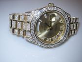 Mens Rolex Day-Date II President 18K Gold Diamond Watch