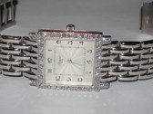 Womens Chopard Classique Square 18K Gold Diamond Watch