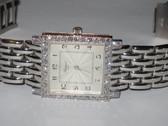 Womens Chopard Classique Square 18K Gold Diamond Watch