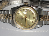 Mens Rolex Datejust 18K Gold Watch