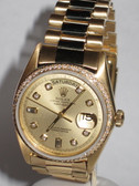 Mens Rolex Day-Date President 18K Gold