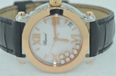 Womens Chopard Happy Sport 18K Rose Gold Watch