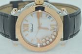Womens Chopard Happy Sport 18K Rose Gold Watch