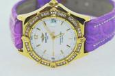 Womens Breitling Chronomat Perptual Sirius 18K Solid Gold