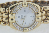 Womens Chopard Happy Gstaad Solid 18K Gold Watch