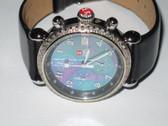 Womens Michele CSX Mother Of Pearl Diamond Chronograph Watch