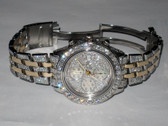 Mens Breitling Chronomat Crosswind 18K Gold Diamond Watch - MBRT118