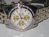 Mens Breitling Chronomat Evolution 18K Diamond Watch - MBRT129