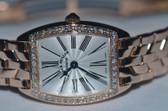 Womens Franck Muller Cintree Curvex 18K Solid Gold Diamond Watch