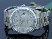 Mens Rolex Day-Date President 18K White Gold Diamond Watch