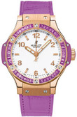 Womens Hublot Big Bang 18K Rose Gold Tutti Frutti Watch