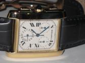 Mens Cartier Tank Francaise 18K Gold Watch