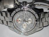 Mens Breitling Super Avenger Diamond Watch - MBRT79