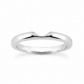 14K White Gold Plain Fitted Wedding Band - ENS1549-B